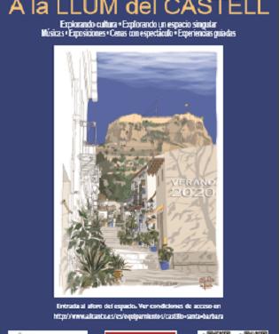 Cultura d'Alacant presenta els cicles d'activitats per a l'estiu al Castell amb visites guiades, concerts, sopes – espectacle i teatre
