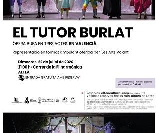 """Altea albergará la ópera bufa en valenciano """"El Tutor Burlat"""""""
