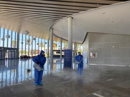 L'Auditori Internacional de Torrevella desinfecta les seues instal·lacions a la tècnica de la nebulización