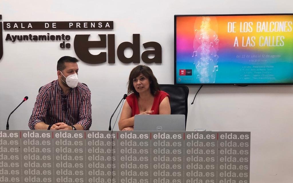 """La Regidoria de Cultura d'Elda posa en marxa el cicle de concerts estiuencs """"Dels balcons als carrers"""""""