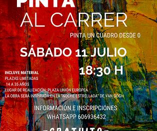 """La regidoria de joventut de Finestrat organitza una proposta lúdica i artística en 3 edicions titulada """"Pinta al carrer"""""""