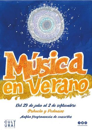 """Cultura presenta """"Música a l'estiu"""" programa de concerts al carrer en el qual participaran bandes i associacions musicals del municipi d'Oriola"""