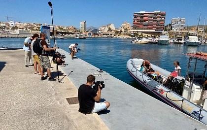 TVE graba un documental sobre los fondos marinos de El Campello