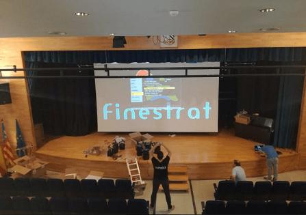 Finalizan las obras de renovación de los equipos de iluminación y sonido del Salón de Actos de la Casa de Cultura de Finestrat