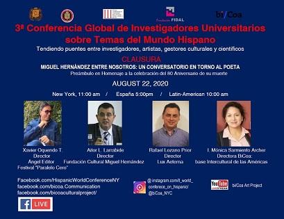 Aitor l. Larrabide clausura la tercera conferencia global de investigadores universitarios sobre temas del mundo hispánico organizada desde Nueva York