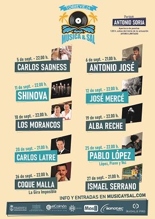 El cicle Música i Sal de Torrevieja tanca el seu cartell amb una programació per a tots els públics