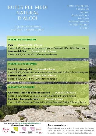 Tornen les rutes pel medi natural i el patrimoni històric i arqueològic d'Alcoi a càrrec de l'alumnat del taller d'ocupació
