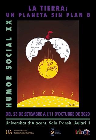 La Universidad de Alicante inaugura de forma presencial la exposición de Humor Social «La Tierra: Un planeta sin plan B»