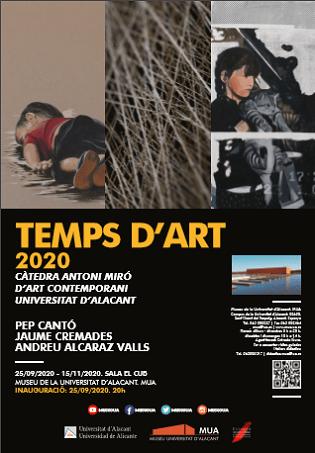 El Museu de la Universitat d'Alacant inaugura 'Temps d'Art' 2020, amb les propostes plàstiques seleccionades per la Càtedra Antoni Miró d'Art Contemporani de la UA