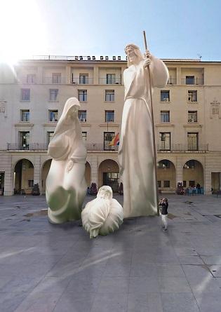 L'estil del Betlem Monumental d'Alacant es basa en el Modernisme alacantí de principis del segle XX i presa com a referent als escultors Vicente i Daniel Bañuls