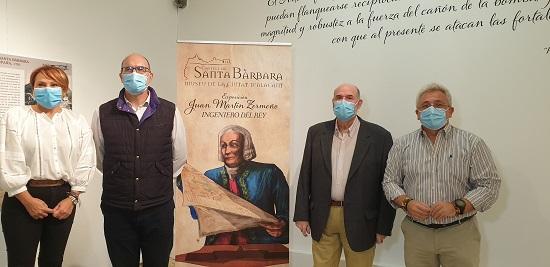El Castillo de Santa Bárbara acoge la exposición «Juan Martín Zermeño, las fortificaciones abaluartadas del siglo XVIII»