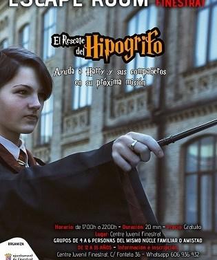 La concejalía de juventud de Finestrat lanza una nueva Escape Room ambientada en la saga de Harry Potter