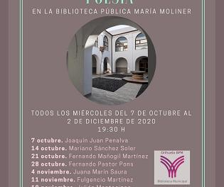 """Este próximo miércoles se iniciará con Joaquín Juan Penalva el ciclo de """"Encuentros con la Poesía""""  en Orihuela"""