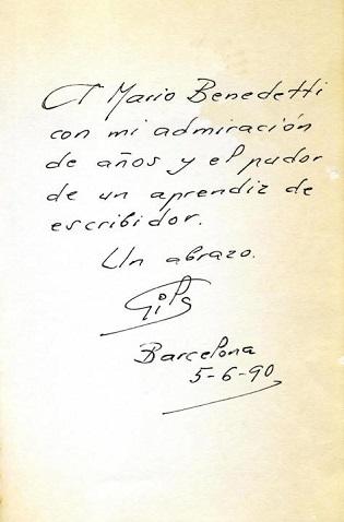 El CeMaB ofereix en línia l'exposició «Querido Mario…. Dedicatòries en la biblioteca madrilenya de Mario Benedetti»