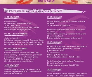 Dénia celebra el Día Internacional contra la Violencia de Género