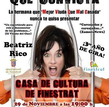 """Teatro en Finestrat con Beatriz Rico y el monólogo """"Antes muerta que convicta"""""""