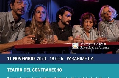 La Mostra de Teatre Espanyol d'Autors Contemporanis arriba al Paranimf de la UA amb «Delírium»