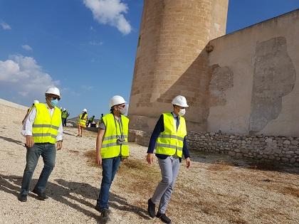 El Gobierno central aportará el 60% del presupuesto de la restauración de la barbacana del Castillo de Elda a través del 1,5% Cultural