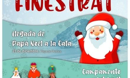 Finestrat se prepara para la llegada de Papá Noel a la Cala y el campamento real en el casco histórico