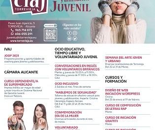 Joventut de Torrevella presenta la seua nova programació d'hivern 2021 amb activitats de gener a març