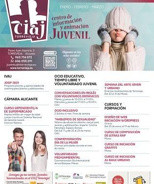 Juventud de Torrevieja presenta su nueva programación de invierno 2021 con actividades de enero a marzo