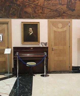 Villena solicita a la SGAE la renovación del convenio de cesión del piano y del retrato de Chapí