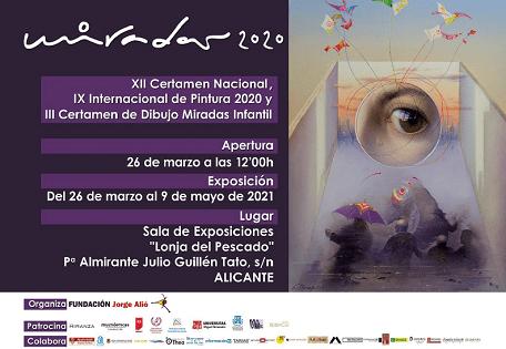 Inauguración de la exposición del Certamen de Pintura Miradas 2020