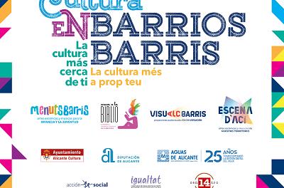El programa Cultura en Barris d'Alacant proposa 50 espectacles i actuacions d'abril a juny