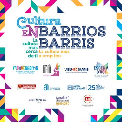 El programa Cultura en Barrios de Alicante propone 50 espectáculos y actuaciones de abril a junio