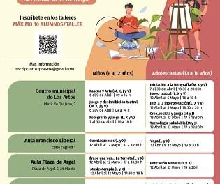 """Cultura de Alicante abre el plazo de inscripción de los cursos gratuitos para jóvenes """"Exprésate en la terreta"""""""