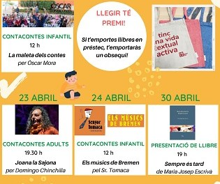 La Biblioteca Dénia organiza actividades para todas las edades con motivo del Día del libro