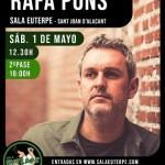 Rafa Pons vuelve a Sala Euterpe el 1 de mayo