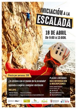 La regidoria de joventut de Finestrat organitza un curs d'iniciació a l'escalada aquest diumenge 18 d'abril