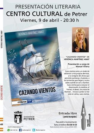 "L'escriptora de Petrer Verónica Martínez s'aventura amb la poesia en la seua nova obra ""Cazando Vientos"""