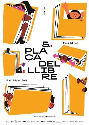 La 5.ª Plaça del Llibre llena Alicante de cultura segura con más de 20 actividades el fin de semana del Día del Libro
