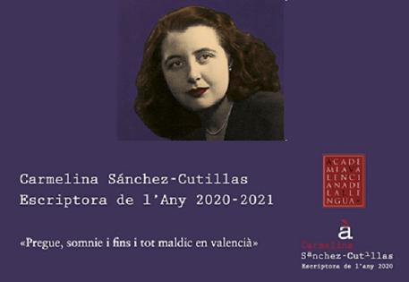 """L'exposició """"Carmelina Sánchez-Cutillas. Escriptora de l'any 2020-2021"""" es podrà visitar a Cocentaina a partir del 7 de maig a la Casa de la Joventut"""