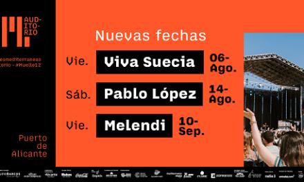 Melendi, Pablo López i Viva Suecia se sumen a l'extensa programació musical de Muelle12 d'Alacant