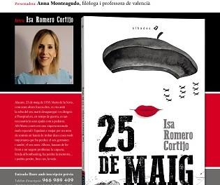 """L'escriptora local Isa Romero Cortijo presenta a Petrer el seu nou llibre """"25 de maig"""""""