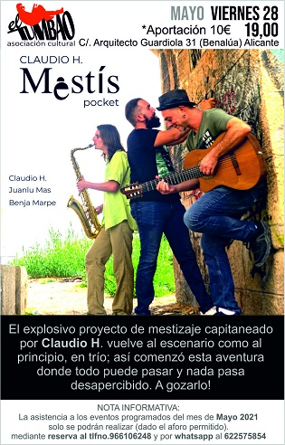 Concierto de Claudio H. Mestís Pocket en el taller tumbao