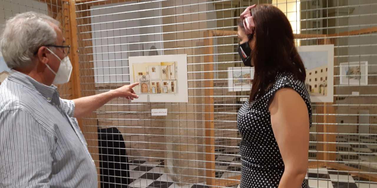 """Las Clarisas acoge la exposición """"Elche dibujada"""" con dibujos y acuarelas de Pepe Ros"""