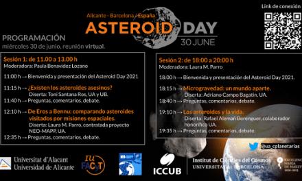 Expertos de la Universidad de Alicante y la Universitat de Barcelona presentan un ciclo de conferencias con motivo del 'Asteroid Day 2021'