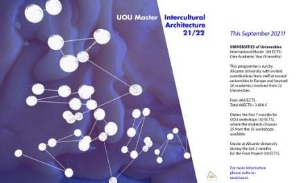 La Universidad de Alicante crea el Máster «Estudios Arquitectónicos Interculturales» con la colaboración de 28 académicos de 22 universidades europeas