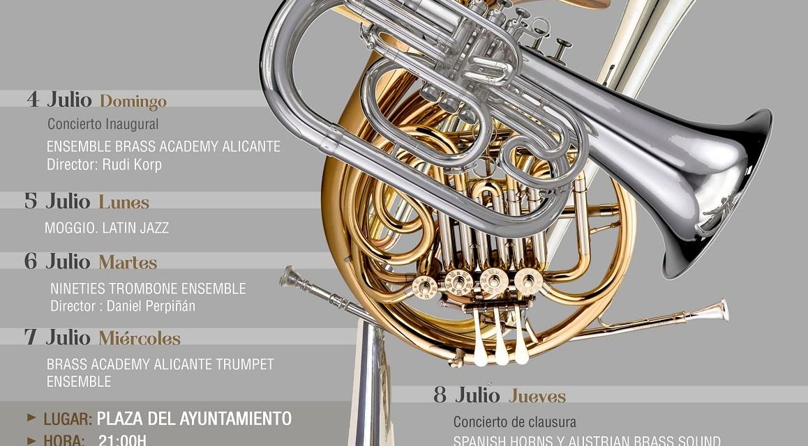 La Plaza del Ayuntamiento de Alicante albergará cuatro conciertos gratuitos con música de viento – metal los días 4, 5, 6 y 7 de julio