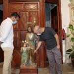 Comienzan los trabajos de restauración del retablo de San José en la Iglesia de El Salvador de Mutxamel