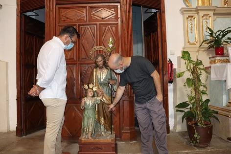 Comencen els treballs de restauració del retaule de San José a l'Església d'El Salvador de Mutxamel