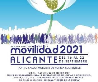 L'Ajuntament organitza un programa d'activitats i tallers en la Setmana Europea de la Mobilitat amb àmplies mesures preventives i aforaments limitats a Alacant