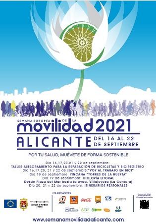 El Ayuntamiento organiza un programa de actividades y talleres en la Semana Europea de la Movilidad con amplias medidas preventivas y aforos limitados en Alicante