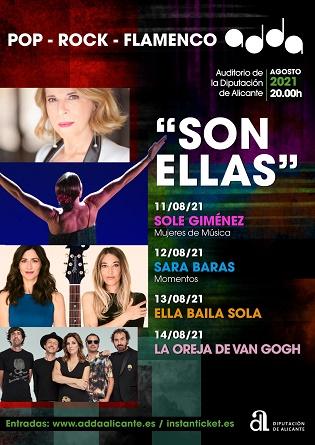 La cantante Sole Giménez inaugura en el ADDA el ciclo 'Son ellas', dedicado al papel de la mujer en la cultura