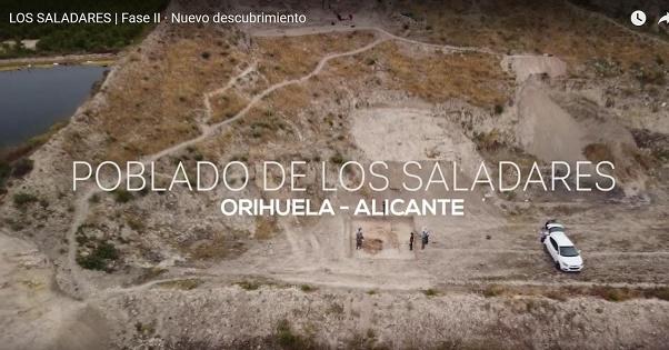 Patrimonio Histórico de Orihuela publica un nuevo vídeo con los últimos hallazgos del Yacimiento de Los Saladares