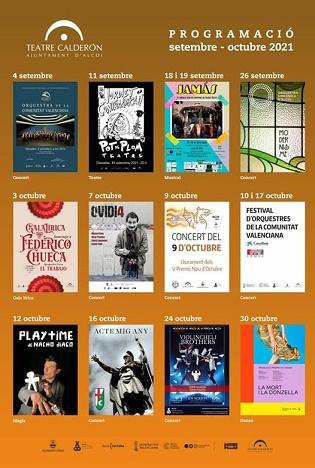Extensa programación cultural  para el otoño en Alcoy